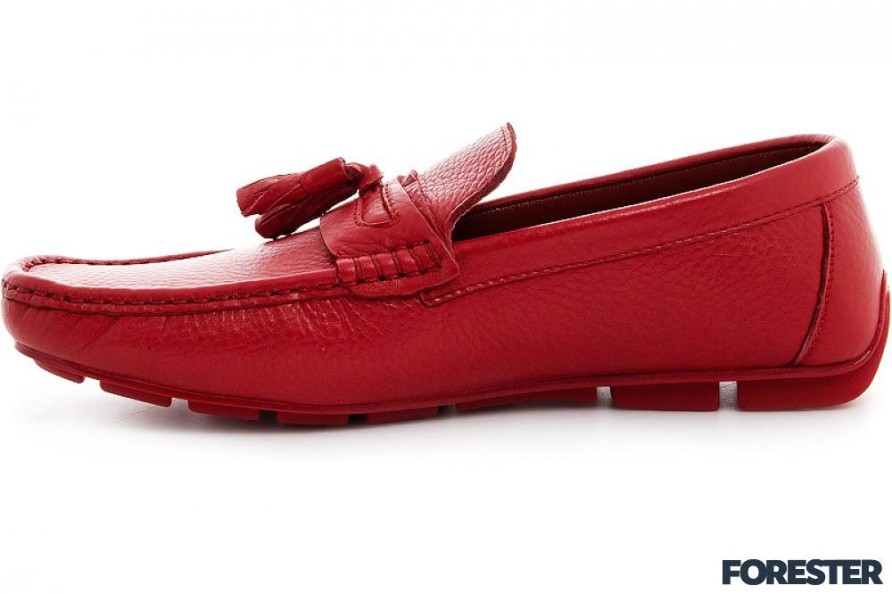 8e730c22c608 Купить Кожаные мужские мокасины Forester 7395-47 Красная кожа по ...